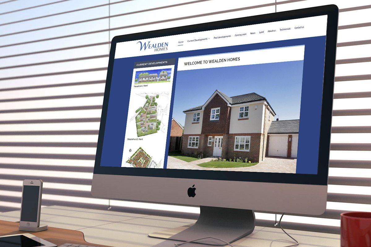Wealden Homes screenshot on an imac
