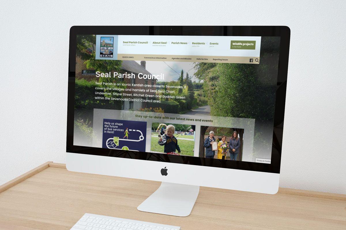 Seal Parish Council website displayed on a mac